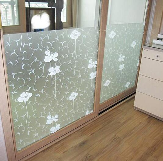 Privacy frosted frosted etched home decoration bedroom for Opaque glass for bathroom windows