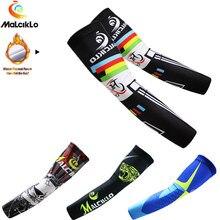 Malciklo Winter Fleece Thermal Sport Arm Sleeve Cycling Sleeve Arms Warmer Bike Keep Warm Men/Women Manguito Manga De Brazo