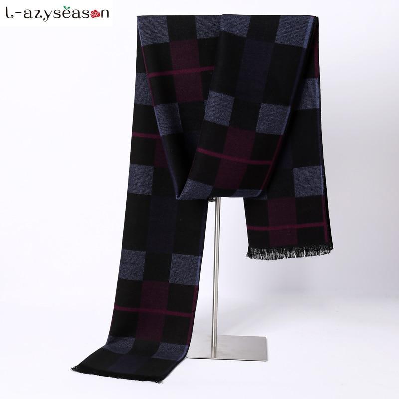 Newest Brand Designer Men Scarf Luxury brand Winter Fashion Warm Scarves Tassel Classical Imitation Cashmere Feeling soft hijab