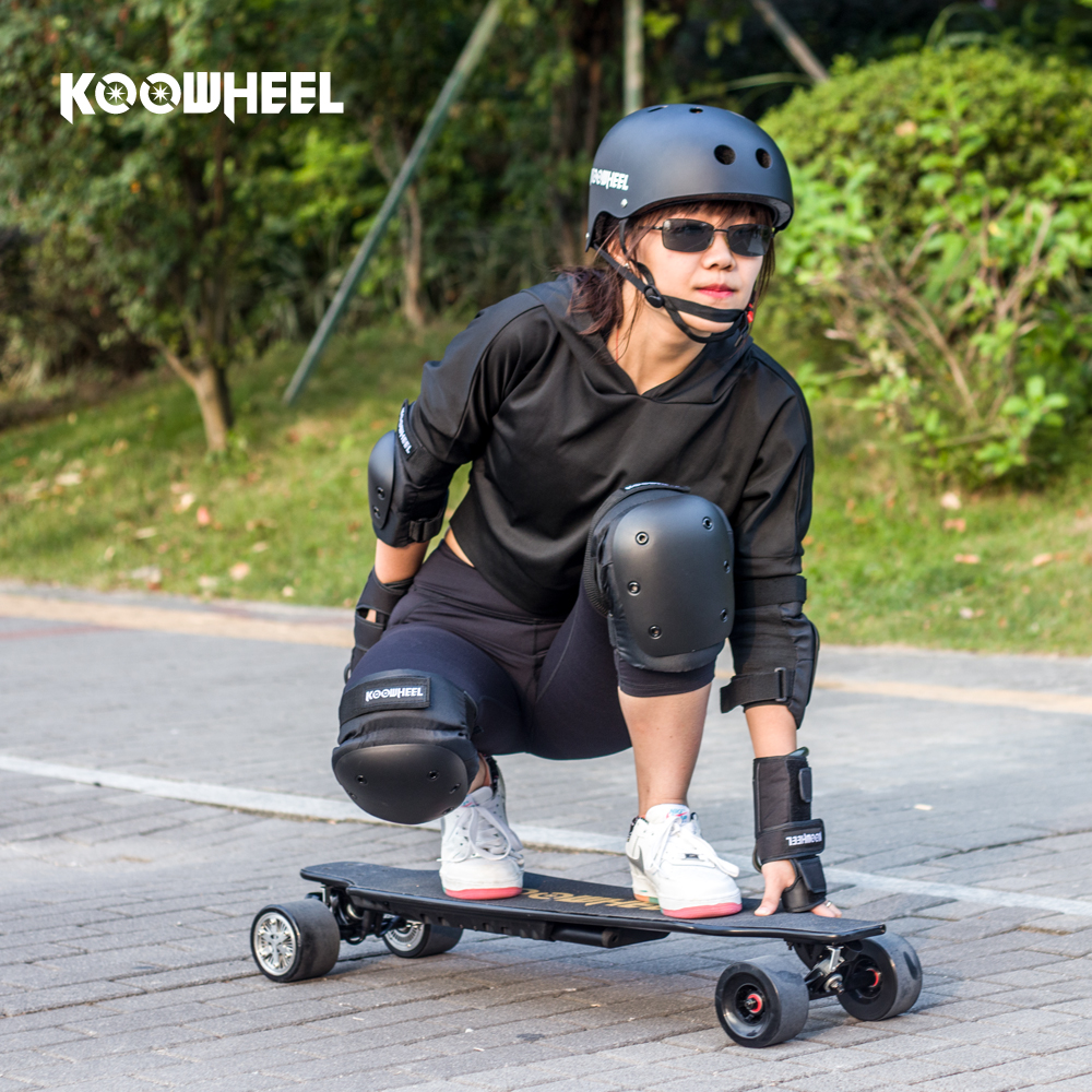 Koowheel 7pcs\/set Skatebaording Helmet Wrist Knee Pad Elbow Guard Kneepads for Electric