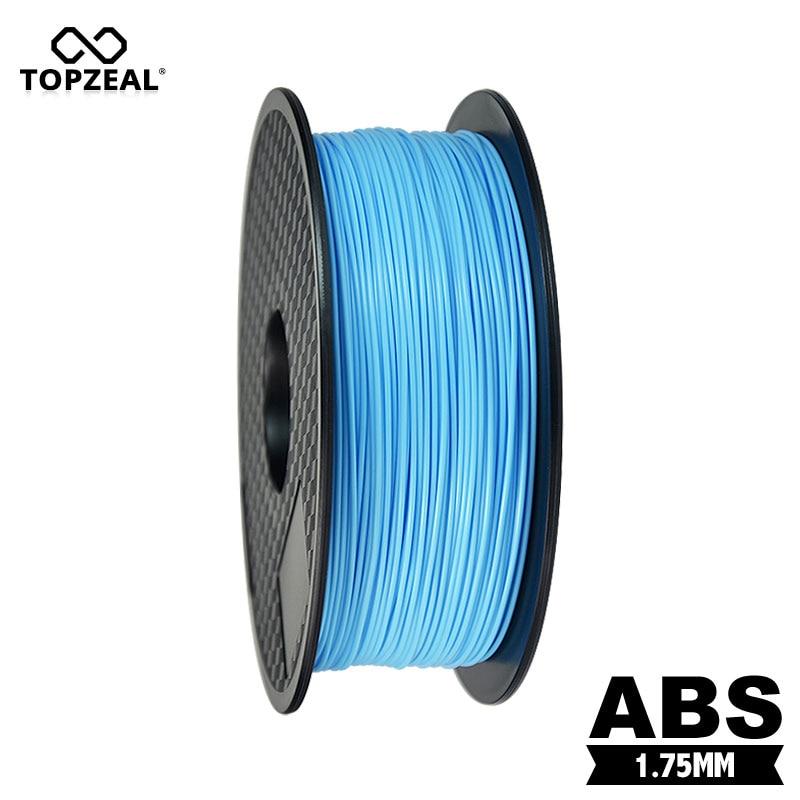 TOPZEAL プレミアム ABS フィラメント 1.75 ミリメートル 1 キロスプールプラスチック 3D プリンタため 3D 印刷フィラメントライトブルー色  グループ上の パソコン & オフィス からの 3Dプリンタ造形材料 の中 1