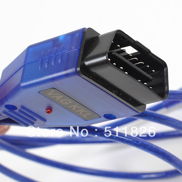 Free shipping USB Cable Car Diagnose tool KKL VAG 409.1XI OBD2 OBD OBDII COM Scanner for VW/AUDI  #8340