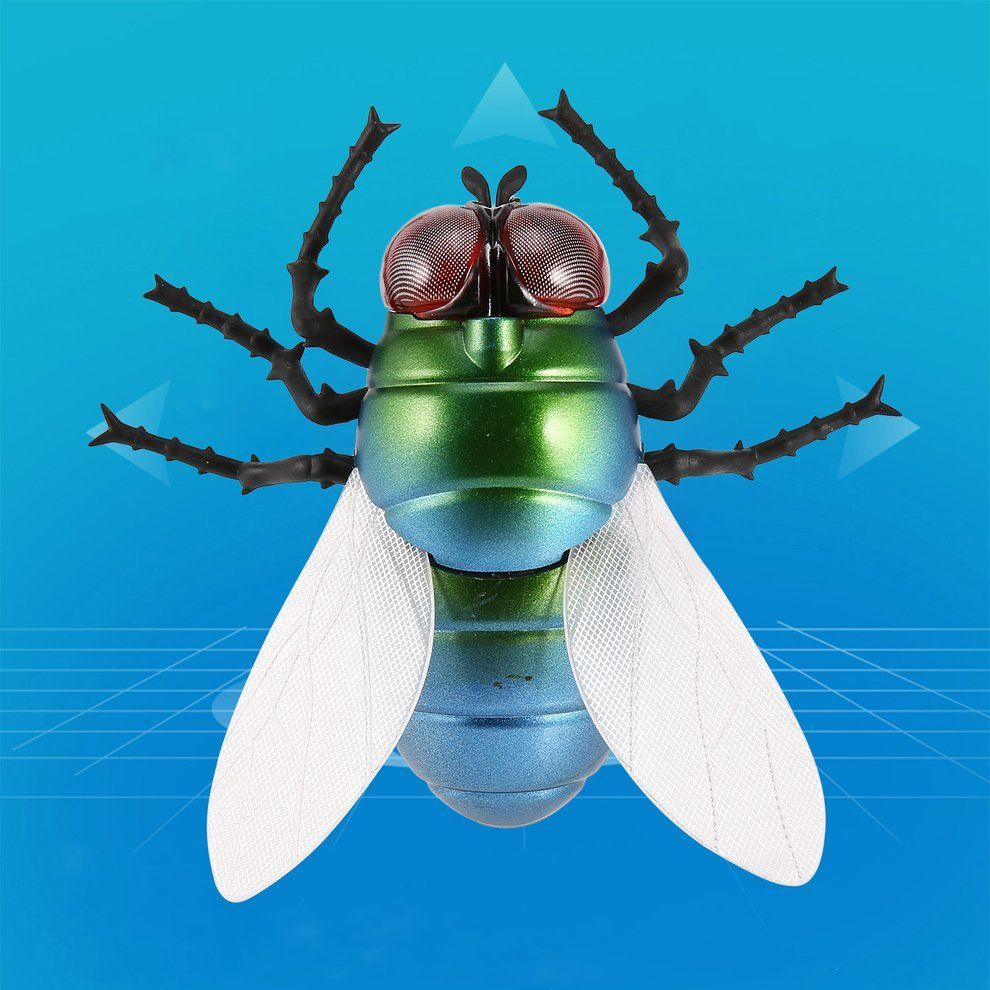 Infrared Remote Control Realistic Housefly RC Animal Fly Insect Toy Gift Gadgets Electronicos Toys For Children