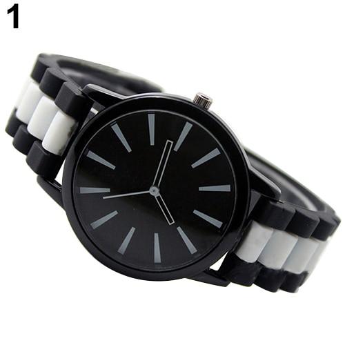 Высокое качество Для женщин Для мужчин простой силиконовой лентой желе гель аналоговые кварцевые унисекс Спортивные наручные часы NO181 5VA9