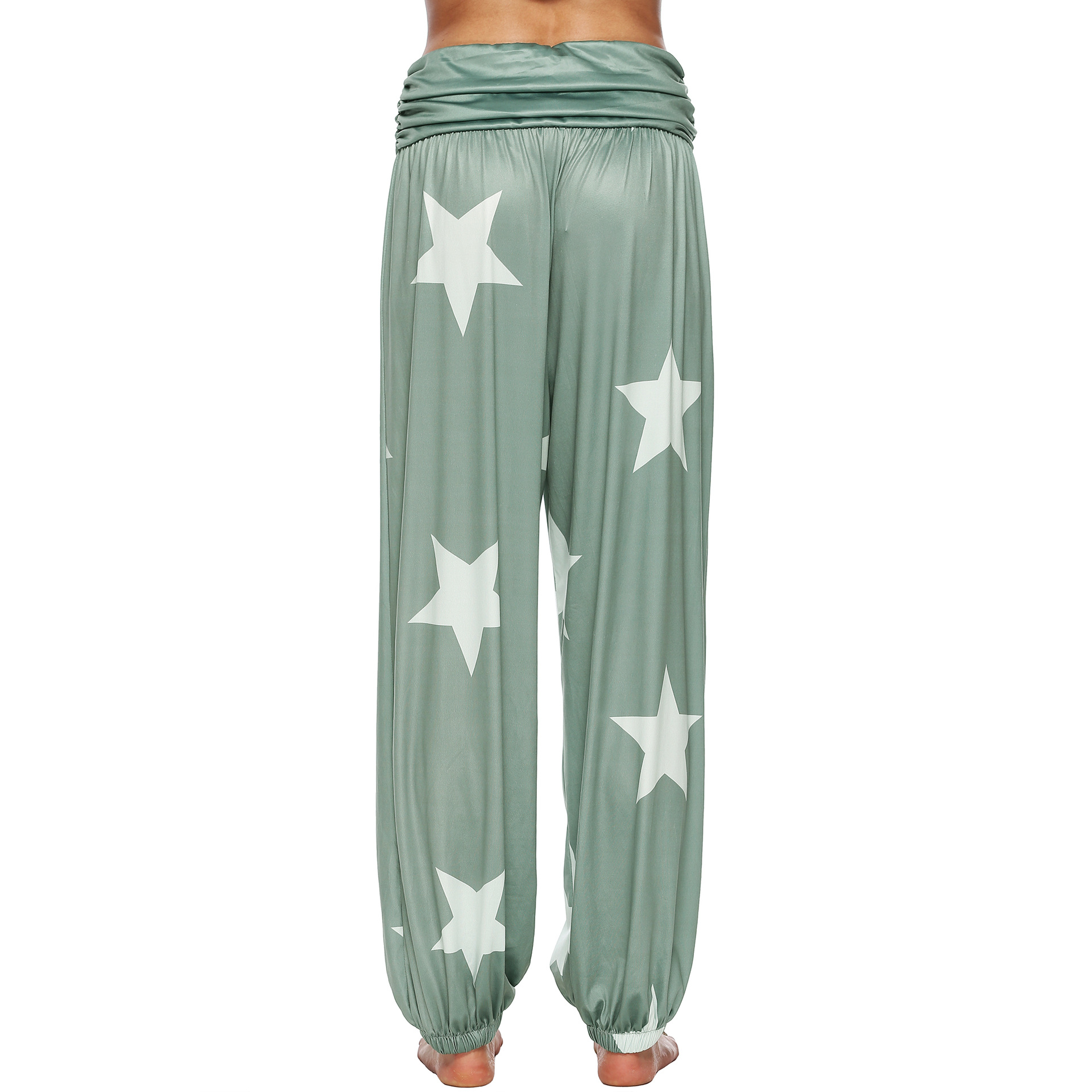 womens casual trousers star-tightened loose-waisted Hallen harem pants  women plus size