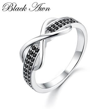 Classic 2.3g 925 Sterling Silver Fine Jewelry Trendy Engagement Fashion Bague Femme for Women Luxury Wedding Rings Bijoux C090