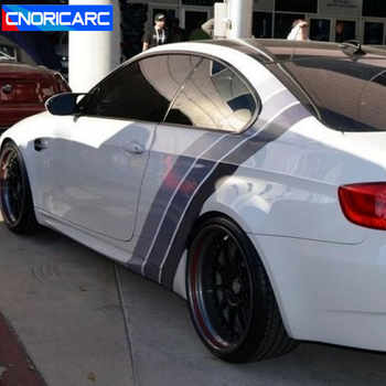 Cnoricarc Tricolor Lines Customized Vinyl Decal Car Body
