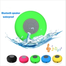 2018 NEW Water Resistant mini portable Shower Bluetooth Speaker with Sucker Support Hands free Calls Function