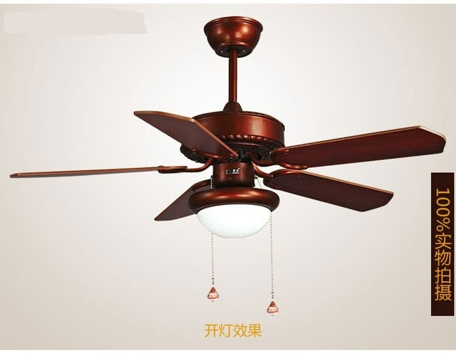 Led Light Wooden Leaf Retro Ceiling Fans Fan Indoor Single Gl Cover Decorative