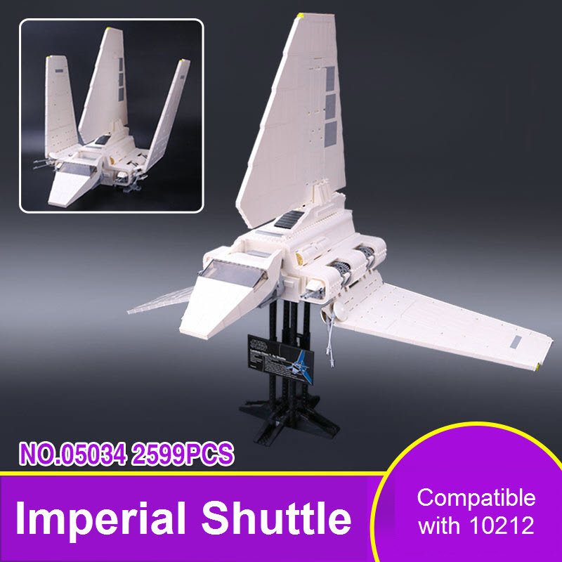 New Lepin 05034 Star War Series The Imperial Shuttle Tydiriu Building Blocks Bricks Assembled Toys Compatible With 10212 Gifts lepin 22001 pirates series the imperial war ship model building kits blocks bricks toys gifts for kids 1717pcs compatible 10210