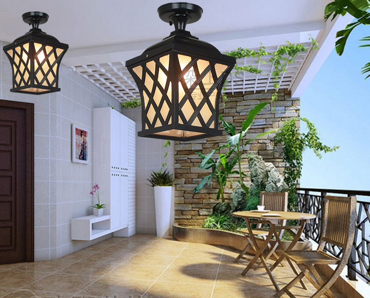 Outdoor ceiling lamps waterproof garden lamp LED Yang outdoor porch porch corridor lamp Vintage Ceiling Lights