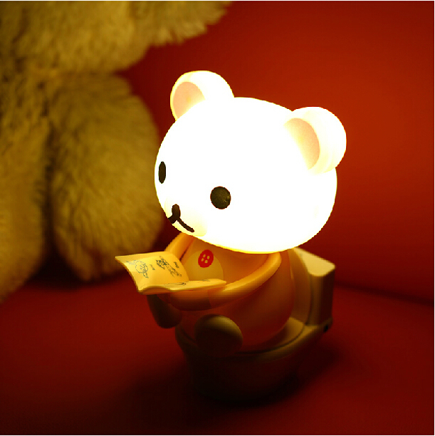 1 Piece Led USB Cute Cartoon Desk Lamp,Lovely Bear Closestool Table Lamp,Creative Night Light,Free Shipping