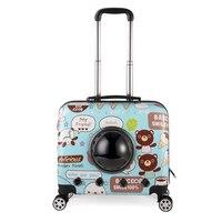 Многофункциональный собака Box Car сумка Кошка Перевозчик чемодан тележка дело рюкзак Открытый Портативный сумки код Чемодан B52