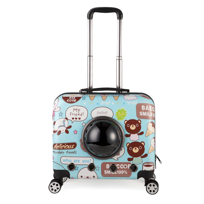 Multifunction Pet Dog Car Box Bag Travel Cat Carrier Suitcase Trolley Case Backpack Outdoor Portable Bags Product Luggage B52