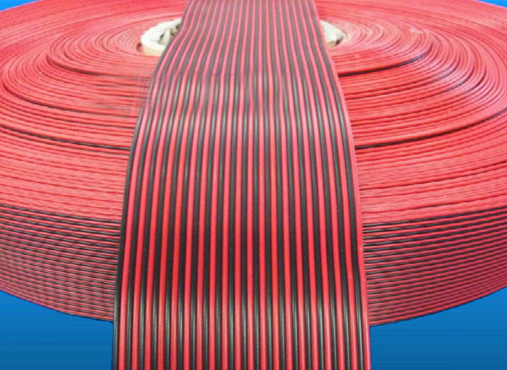 Free Ship By EMS/DHL 50m/lot Red And Black Rainbow Cable 40P 2 Color Cable 16 Strand Copper Wire Diameter 1.6MM Pure Copper Wire