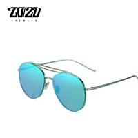20 20 New Sunglasses Women Brand Exquisite Sun Glasses Vintage Coating Mirror Double Bridge Glasses Female