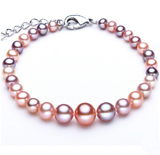 ef6c1e815ceb64 Multicolor Natural Pearl Jewelry Set Genuine Pearl Necklace+Real Pearl  Bracelet Nearround Pearl Knotted Beads Bridal Presents ~ Top Deal July 2019