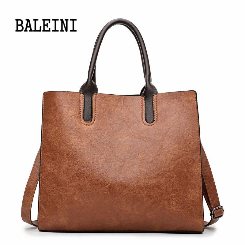 Baleini Leder Handtaschen Große Frauen Tasche Hohe Qualität Casual Weibliche Taschen Stamm Tote Spanisch Marke Schulter Tasche Damen Große Bolsos FüR Schnellen Versand