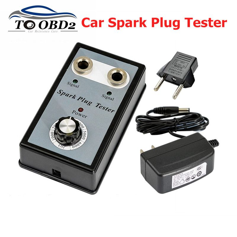 High Quality Adjustable Double Hole  Car Spark Plug Tester Detector Ignition Plug Analyzer Diagnostic Tool For 12V Gasoline Car