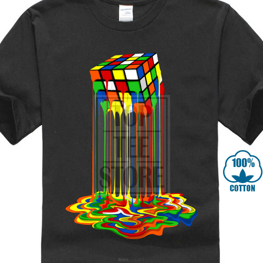 2e69f7949 Good Quality Cube T Shirt Rainbow Abstraction Rubik Cube Tshirt Big Discount  Best T Shirt For