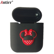 Earphone Case For Apple Airpods strap Soft Silicone headphone Case Earphone accessories Protective wireless bluetooth Cover 5pcs set silicone wireless bluetooth earphones case for airpods apple i7 earbud earphone accessories protective cover