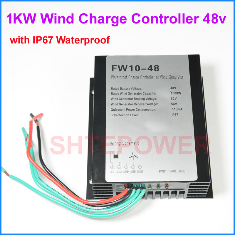 AC 24V/48V Wind Turbines charger Battery Controller Free shipping 1000W 1KW Wind Generator with LED free shipping 24v auto wind