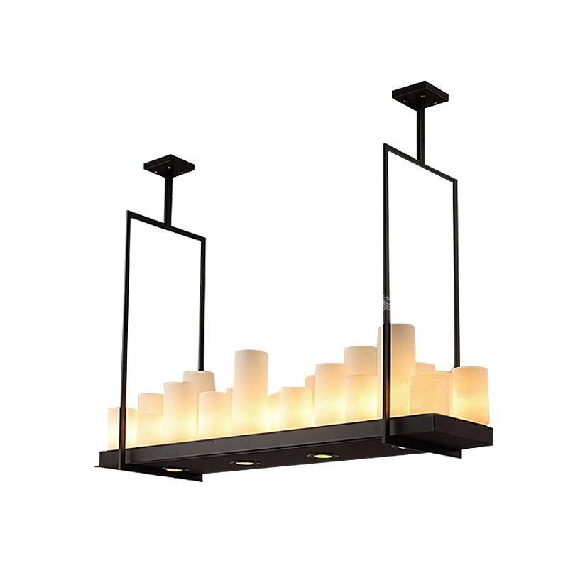 Us 514 65 New Modern Kevin Reilly Alter 95cm Led E27 E14 Gl Iron Candles Engineering Droplight Rectangle Pendent Light Lamp Gy238 In Pendant