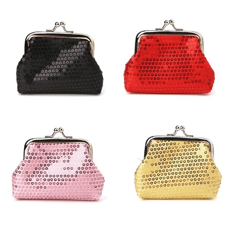 2018 Girl Mini Coin Purses and Wallets Glittering Handbag Lady Key Bag Zipper Pouch Holder New Fashion Solid Hasp Handbags