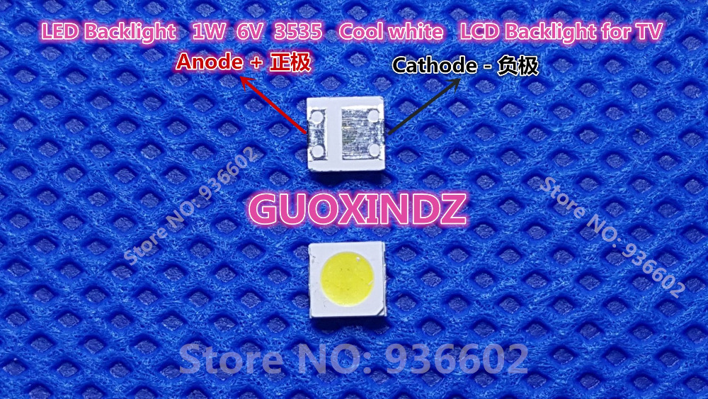 Smart For Sharp Led Lcd Backlight Tv Application Led Led Backlight 1w 6v 3535 3537 Cool White Led Lcd Tv Backlight Gm5f20bh20a Easy To Repair Active Components Diodes