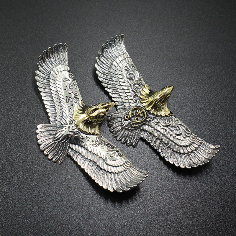 1PC EDC Brass flying eagle style pendant Keychain Tools Outdoor Camping Equipment|Outdoor Tools| |  - title=