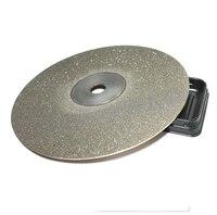 Knife Diamond Plate Whetstone Round Diamond Chassis Sharpener For Knife Polishing Tools 250mm 60 1200grit