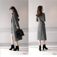 Self cultivation 2018 winter autumn coat women jacket and casual lattice double breasted long plaid coat