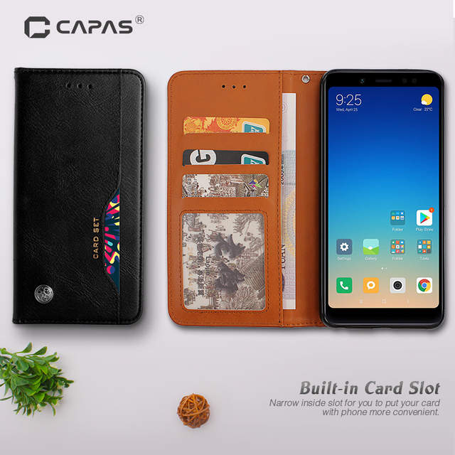 sports shoes 4fbcc b2ae8 US $7.59 5% OFF|CAPAS For Google Pixel 3 XL Case Cover Flip PU Leather Card  Slot Case for Pixel XL3 Magnetic Stand Protective Shield Shockproof-in ...