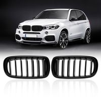 1 Pair Glossy Black Front Kidney Racing Grill Grille Slat For BMW X5 F15 X6 F16 2014 2015 2016 2017 2018