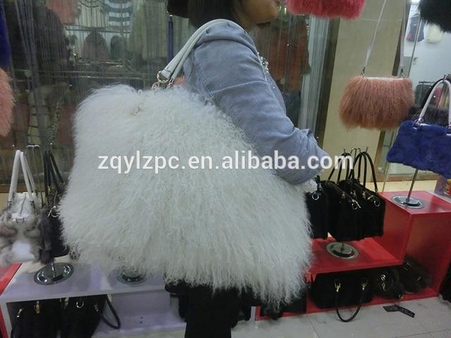 Mongolia Sheep Fur Handbag Genuine Lamb Bags