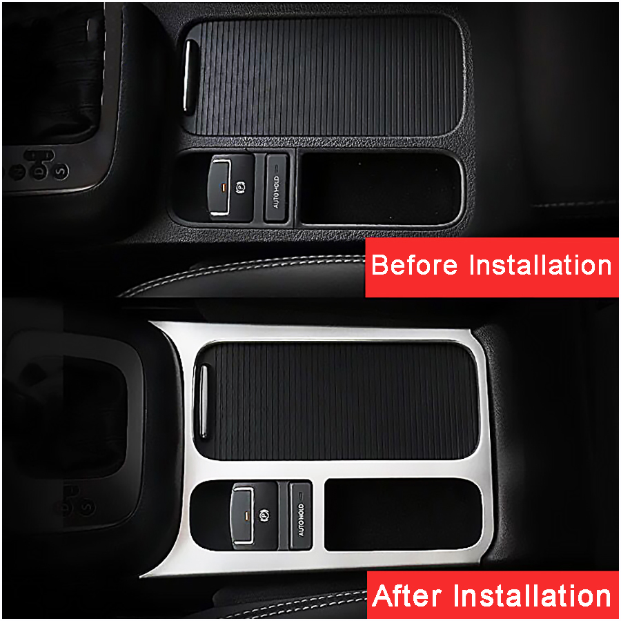 Car Interior Accessories ABS  Brake Cup Holder Panel Trim Cover Decoration For VW Volkswagen Tiguan 2012 2013 2014 2015 (4)