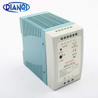 DIANQI MDR 100 12V 5V 15V 24V 36V 48V 100W Din Rail power supply ac dc driver Transformers for LED Strip Light 110V 220V