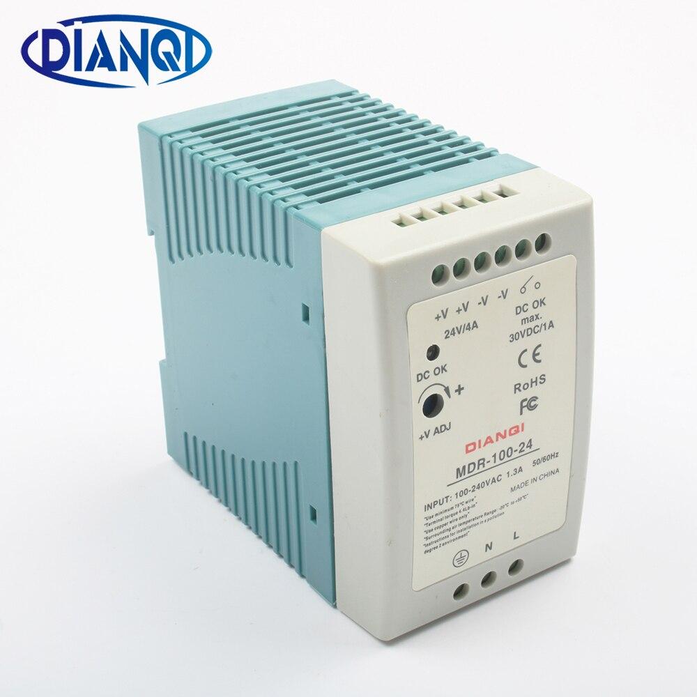 DIANQI MDR-100 12 V 5 V 15 V 24 V 36 V 48 V 100 W Rail Din alimentation ac-dc pilote Transformateurs pour LED Bande Lumière 110 V 220 V
