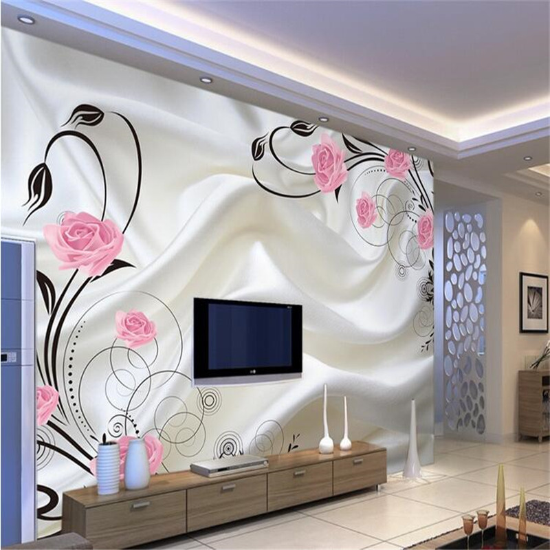 Custom photo wallpaper Large sofa TV background wall paper mural wall art roses 3d mural wallpaper-in Wallpapers from Home Improvement on Aliexpress.com ... & Custom photo wallpaper Large sofa TV background wall paper mural ...