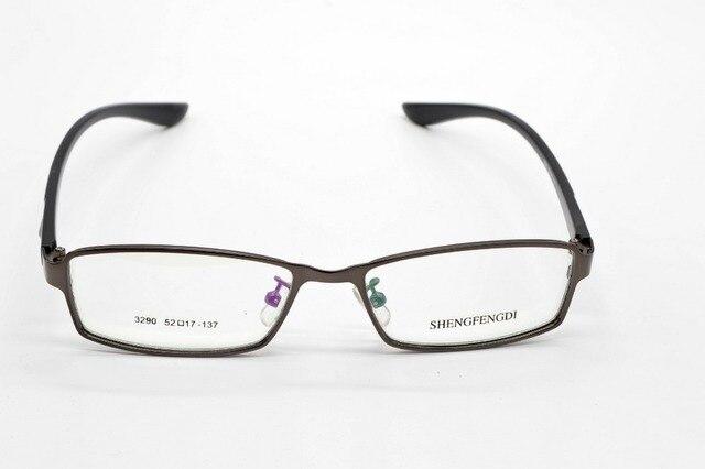 FULL-RIM ALLOY FASHION GRAY TR90 MEMORY MEN GLASSES FRAME CUSTOM MADE OPTICAL MYOPIA AND READING GLASSES LENS+1+1.5+2+2.5+3TO+6