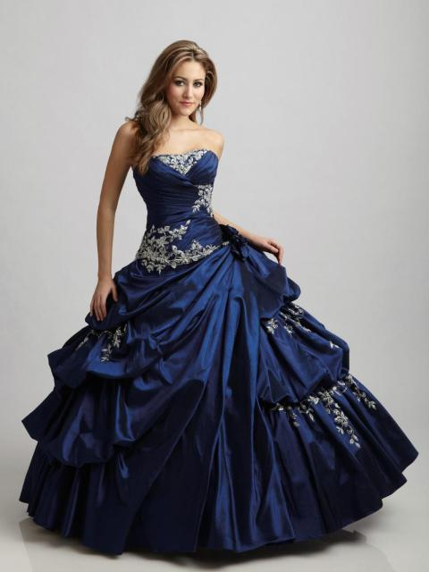 0fa12250402 Appliques Sweetheart Victorian Style Royal Blue Wine Red Taffeta Ball Gown  Quinceanera Dresses Girl Sweet 16 Prom Gowns ZY0005