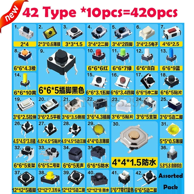 Useful items for sixth-scale environments (continuously updated) - Page 5 420PCS-Assorted-Micro-Push-Button-Tact-Switch-SMD-DIP-2-4-3-6-4-4-6.jpg_640x640