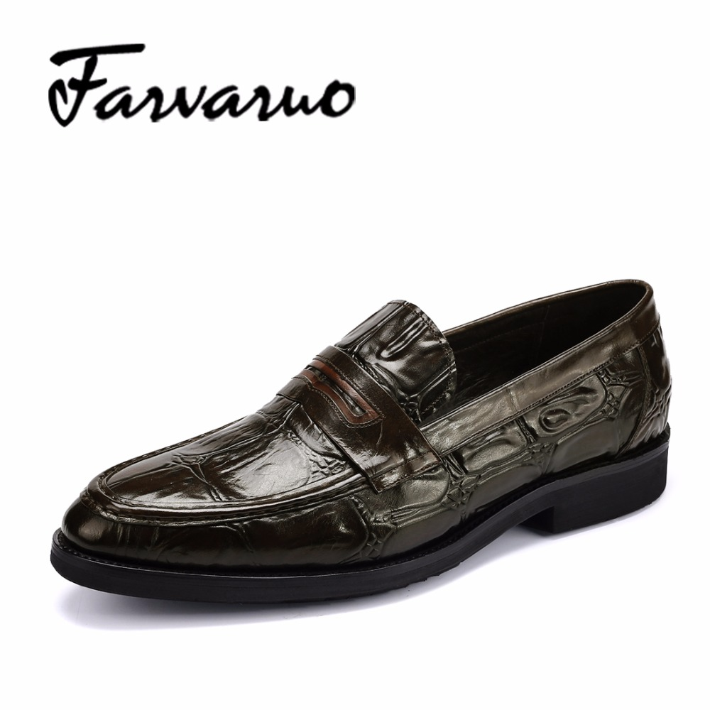 2017 New Fashion Mens Casual Loafers Shoes Spring Moccasins Genuine Leather Slip On Crocodile Dress Oxford Shoe Men Luxury Brand farvarwo genuine leather alligator crocodile shoes luxury men brand new fashion driving shoes men s casual flats slip on loafers
