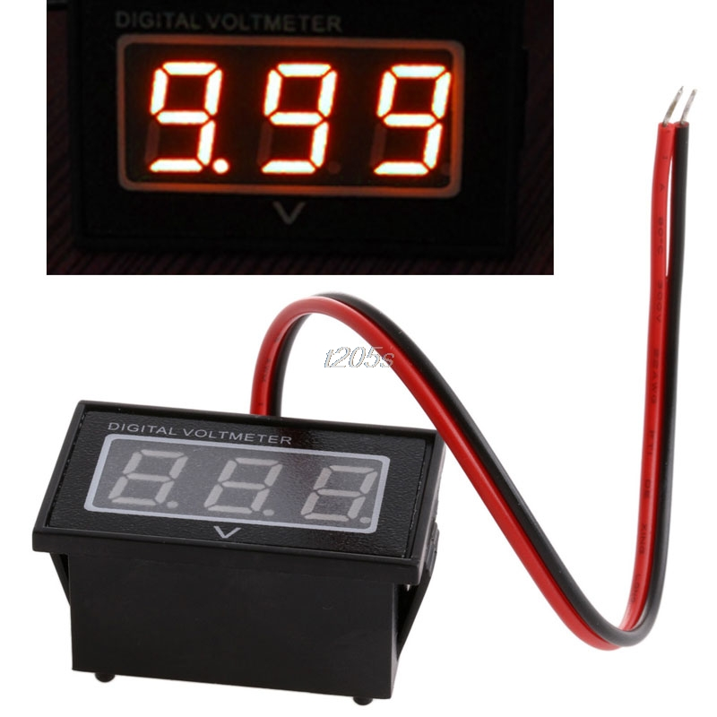 Hot Sell Waterproof Battery Meter DC 2.5-30V Auto Car Gauge Digital Voltmeter LED Red Q17 Dropship