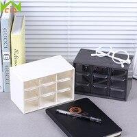 9 Grids Mini Debris Cabinets Plastic Jewelry Storage Box Lattice Portable Amall Drawer Sorting Grid Desktop