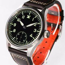 Eta6497 B-Uhr Flieger Pilot Watch Mens hand winding Heat BLu