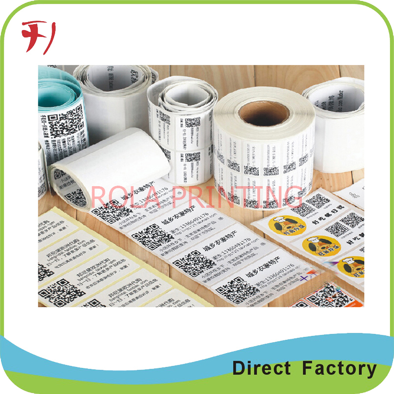 Fancy designs customized scanning stickers paper adhesive,roll printing custom made barc ...