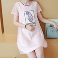 New Summer Fashion Pregnancy Women Dress Short Sleeve Design Casual Vase Pattern Yellow Pink Color