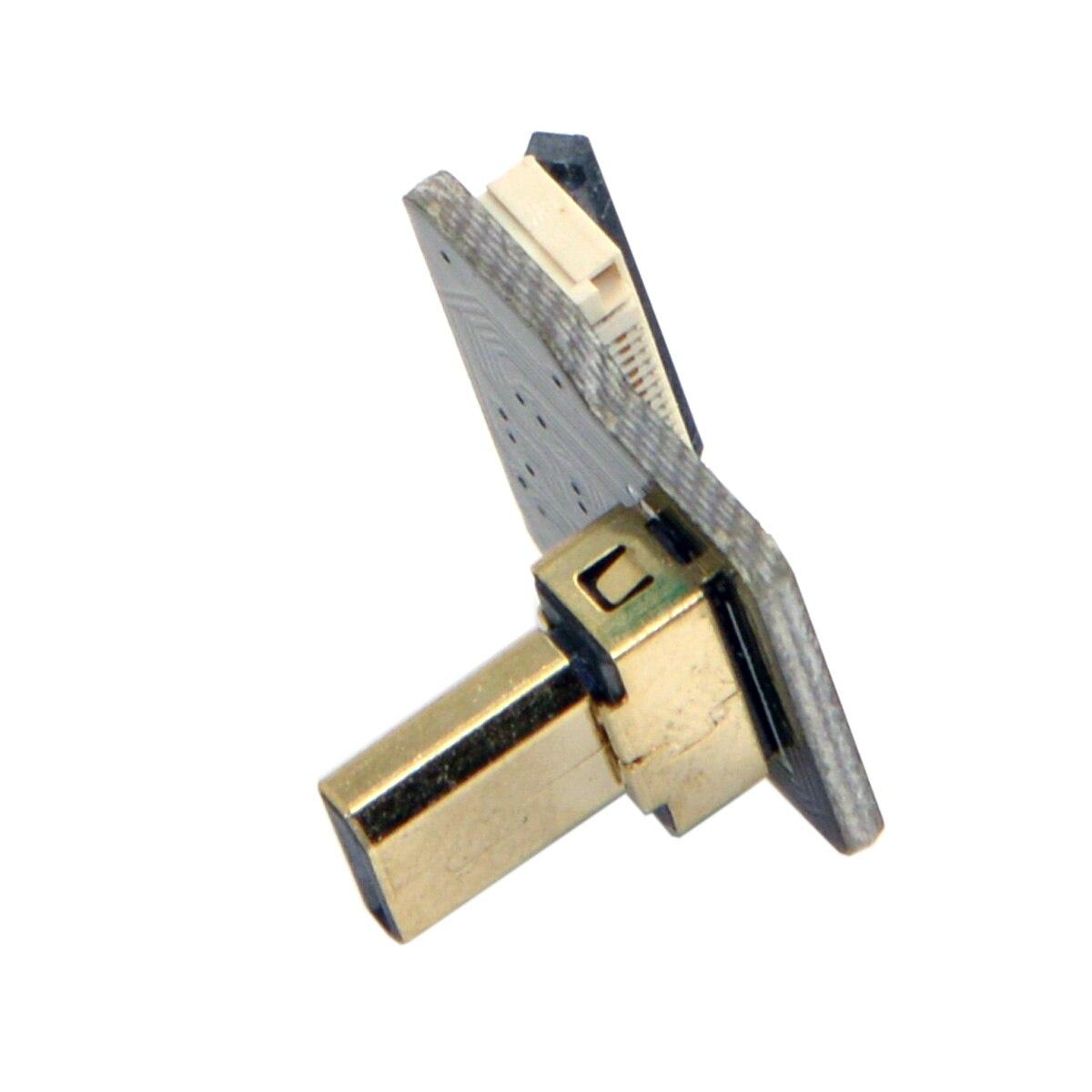 10 pcs/lot câble CYFPV Micro HDMI Type D mâle 90 degrés vers le haut connecteur coudé pour FPV HDTV Multicopter photographie aérienne