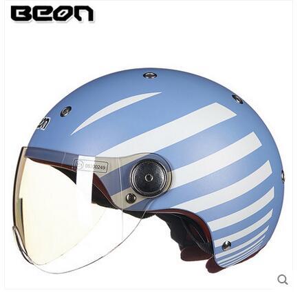 Beon b103 motorrad liebhaber helm für frauen und männer, mode sommer fahrrad biker roller motocicleta halb helme